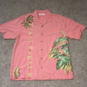 Tommy Bahama men's silk camp shirt size large